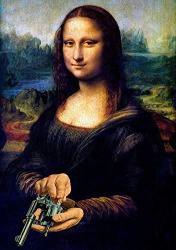 YWOHP Lustige Mona Porträt Porträt...
