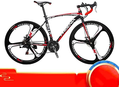 """24"""" bicicleta de carretera, 21/27 de velocidad variable del freno de disco del marco velocidad de bicicletas de ruedas de aleación de aluminio de acero al carbono de 6-11, Rojo, 21 de velocidad SHIYUE"""