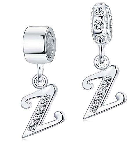 Besteel Jewellery A-Z Initial Alphabet Letter Beads Women Charms Beads for...