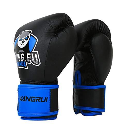 Guantes De Boxeo para NiñOs Boxing Gloves Sanda Entrenamiento De Combate Juvenil Saco Terrero Guantes De Taekwondo Tanto Los NiñOs como Las NiñAs Pueden Usar (6 Onzas),Black