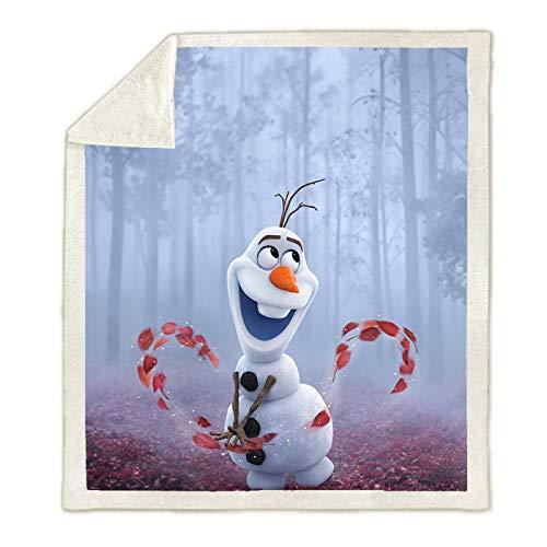 YKOUT 150X200Cm Frozen Princess Olaf Decke, Plüsch Decke Werfen Für Schlafsofa Bettdecke Einzel Twin Bettwäsche Baby Jungen Mädchen Kinder Geschenke
