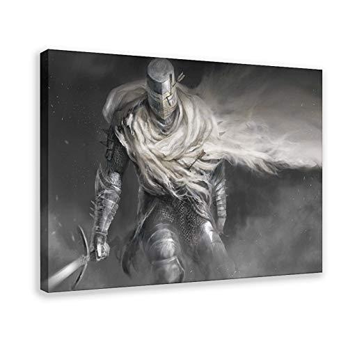 Game Bloodborne 14 Leinwand-Poster, Wandkunst, Deko, Bild, Gemälde für Wohnzimmer, Schlafzimmer, Dekoration, 50 × 75 cm, Rahmen