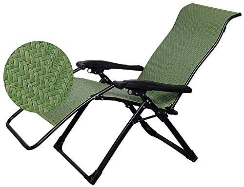 Silla plegable WLKDMJ Plegable Hamaca, Hamaca Beach, Home Office Rattan reclinable Tumbona Volver Silla de Playa Plegable Cama LITING