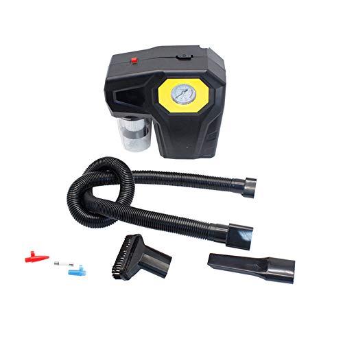 Portable Aspirateur avec pompe de gonflage de voiture et manomètre Pression d'air et d'éclairage à LED, DC 12 V pour voitures, motos, etc.