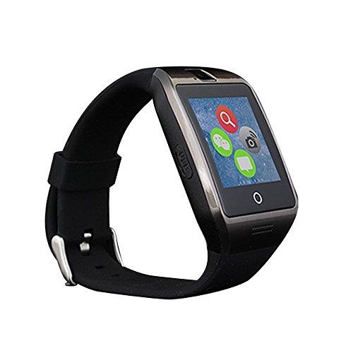 Stoga Smartwatch Armbanduhr, Touch-Display, Bluetooth, Antiverlust, SMS, Schrittzähler, Handy, Schlafüberwachung, Stoppuhr, Fotos, Sport, für Android, Schwarz