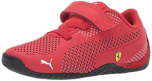 PUMA Unisex-Kid's Ferrari Drift Cat 5 Ultra Sneaker, Rosso Corsa White, 6.5 M US Big Kid