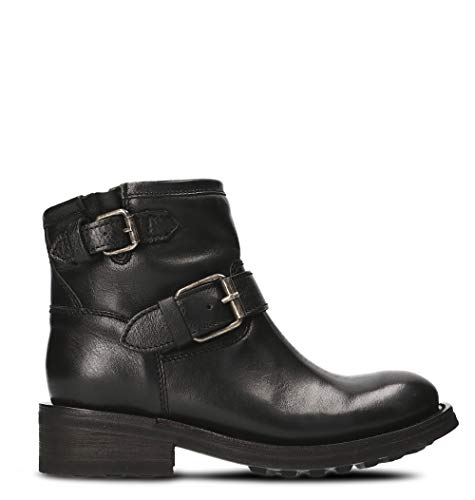 Ash Luxury Fashion Femme TRICK01 Noir Cuir Bottines | Printemps-été 20