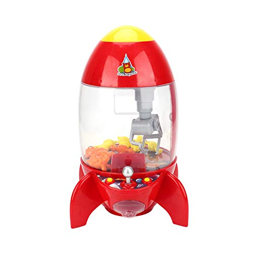 Ttdbd Máquina de Garra de Cohete para niños, pequeña muñeca de Juguete para el hogar, máquina de Juego de muñecas Que Funciona con Monedas, Mini grúa