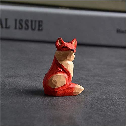 ZHANG Schlüsselbund Der Kleine Prinz und Der Fuchs Holzfigur Tier Schlüsselbund Damen Tasche Zubehör Schlüsselanhänger Anhänger Geschenke