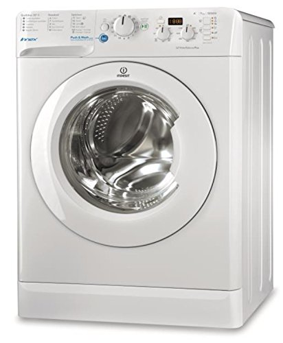 Lave linge Hublot Indesit BWD71452WFR - Lave linge Frontal - Pose libre - capacité : 7 Kg - Vitesse d'essorage maxi 1400 tr/min - Classe A++