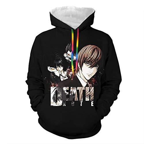 Death Note 2 Male Adult Jacket Zip Sweatshirt Hoodies Double-Sided Printing Hooded Coat Pullover Big Pockets