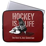 Hockey is Life 11.6-12 Inch Computer Sleeve Laptop Case Soft Neoprene Breathable Case Bag for Teens
