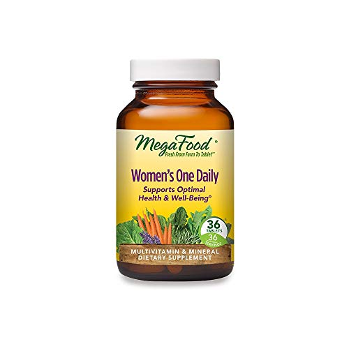 MegaFood, Women's One Daily, Daily Multivitamin and Mineral Dietary Supplement with Vitamins C, D, Folate and Iron, Non-GMO, Vegetarian, 36 Tablets