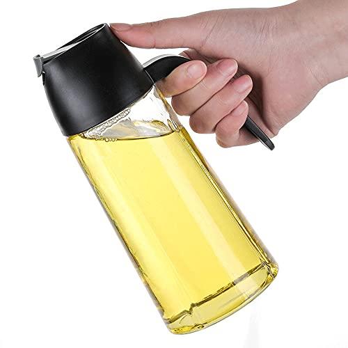 jijunpinpai Olla de aceite de vidrio de apertura y cierre automático, botella de condimento a prueba de fugas, embotellado de utensilios de cocina y condimentos domésticos, utensilios de cocina de 640