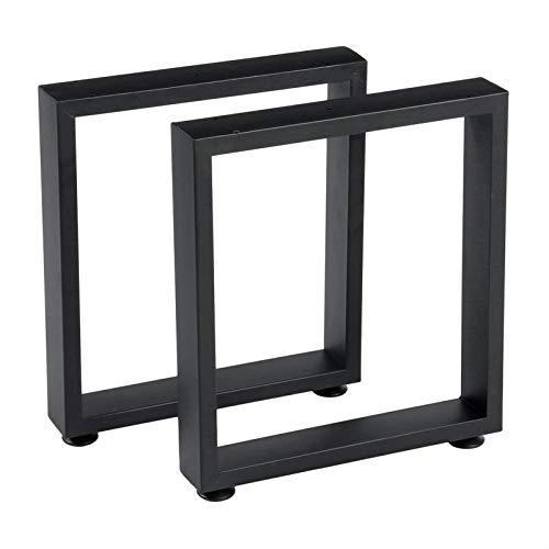QAQA 2 STÜCKE Quadratische Formtisch Beine Metall Möbel Beine mit Bodenschutz Kaffeetische Beine Wohnmöbel Zubehör MULBELS
