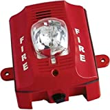 System Sensor P2RK Outdoor Horn Strobe, Wall Mounted, 2 Wire, Red