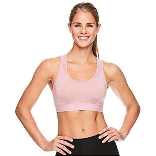 Reebok Women's Wireless Racerback Sports Bra - Medium Impact Athletic Active Fitness & Gym Bralette w/Keyhole Cutout - Zephyr High Speed, Small