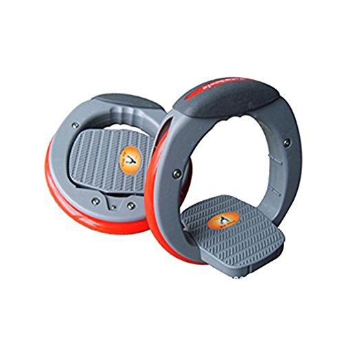 Einstellbare Schienen Skating Unbesiegbar Hot Wheel | Skateboard | Flaschenzug Roller Skating Cyclone (grau) (25cm Durchmesser)
