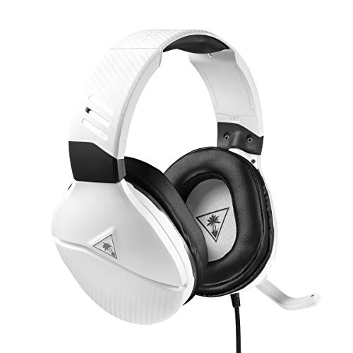 Turtle Beach Recon 200 Cuffie Gaming Amplificate per PlayStation 4, Cablate, Bianco