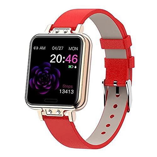 ZGZYL ZL13 Ladies Fashion Smart Watch con Pedometro con Monitoraggio Cardiaco di Pressione Sanguigna Monitoraggio di Fitness Tracker Cronometro Impermeabile Orologio Sportivo Impermeabile,D