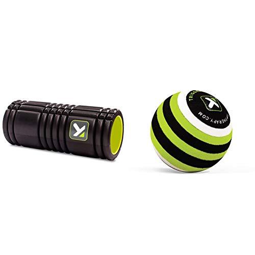 TriggerPoint Grid Faszienrolle, Kompakte Massagerolle, Schwarz, 13\'\'/33cm & B1 Massageball, Gezielte Muskelentspannung, Tragbare Selbstmassage, Muskel- und Bindegewebsmassage Massage, Grün, 2.6\'\'/5cm