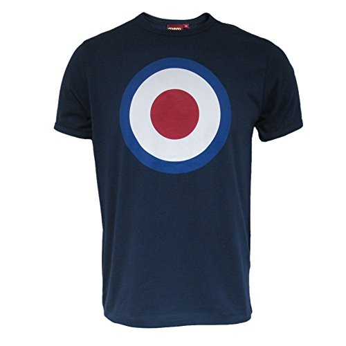 MERC London Mens Navy Target T-Shirt Size 2XL