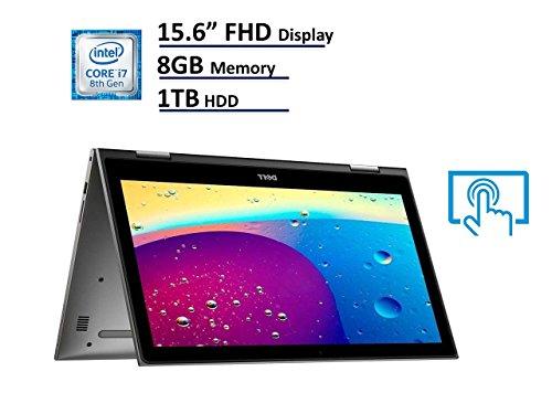 2018 Dell Inspiron 15 5000 5579 2-in-1 Laptop, 15.6in Full HD (1920x1080) IPS Touchscreen, Intel 8th Gen Quad-Core i7-8550U, 8GB DDR4, 1TB HDD, Windows 10 64-bit (Renewed)