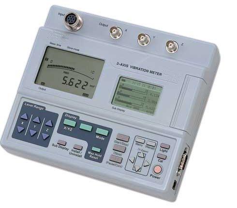 Gowe Dreiaxial-Vibrationsmesser, 3 Kanäle, kompakt, leicht und praktisch