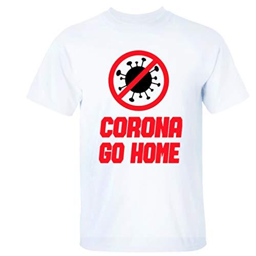 Rugby clothing boutique Q COVID-19 Survivor Coronavirus Adulti Unisex Manica Corta T-Shirt, 100% Cotone (Color : White, Size : XL)