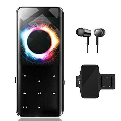 【2020最新版】MP3プレーヤー Bluetoothアップデート 超軽量 HIFI超高音質 2.4インチHD大画面 両面とも3D曲面 音楽プレーヤー デジタルオーディオプレーヤー 小型 FMラジオ 16GB内蔵容量 最大128GBまで拡張可能 録音対応 24種言語(日本語対応) 日本語説明書付き (16GB)
