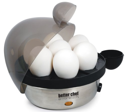 Better Chef IM-470S Stainless Steel Electric Egg Cooker | Boil up to 7 Eggs in a Matter of Minutes |...