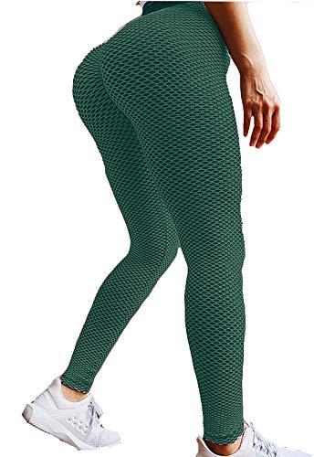FITTOO Leggings Mallas Mujer Pantalones Deportivos Yoga Alta Cintura Elásticos y Transpirables Verte Extra Grande