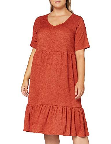 ONLY Carmakoma CARCOAST 2/4 BLK Dress, Orange (Hot Sauce), XL-54