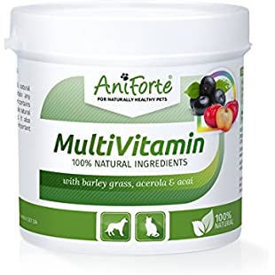 AniForte MultiVetal Powder 100g Natural Multi-Vitamin Complex for Dogs & Cats, with Minerals, Nutritional Boost Supplements