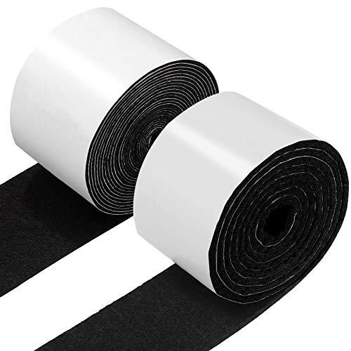 2 Rolls Self Adhesive Felt Tape Polyester Felt Strip Rolls 118 x 1.97 x 0.04 Inch Felt Adhesive Strip Tape 59 x 1.97 x 0.12 Inch for Furniture and Hardwood Laminate Floor