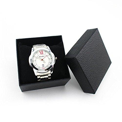 Moent Caja de Caja de Regalo Actual Duradera para Pulsera Brazalete Caja de Reloj de joyería BK