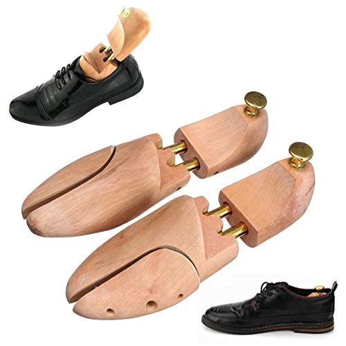 SJYSD-Bath Mat Ensanchador de Zapatos Arbol de Zapatos de Madera Ajustable 1 par de Zapatos de Madera Arbol de Camilla Shaper Keeper Antiarrugas 35-46/5-12/3-11.5 Tensores de Zapatos