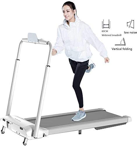 Folding loopband goed for thuis/Appartement Fitness Compact Electric lopende oefening Machine met Safe stuur en LCD-scherm for eenvoudige bediening QIANGQIANG (Color : White, Size : 149 * 77 * 120cm)
