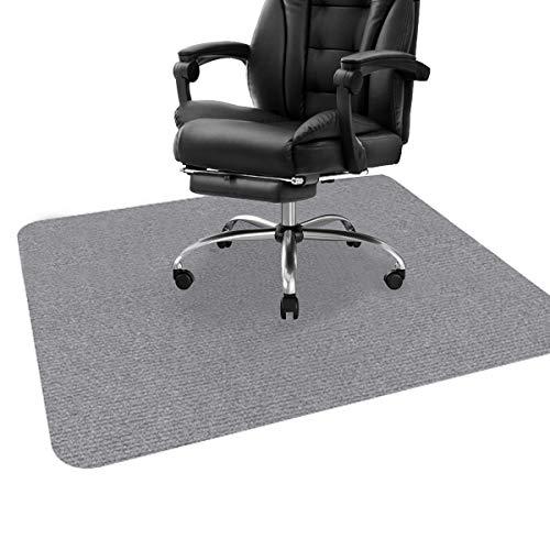 ping bu Stuhlmatte, Schreibtischstuhlmatte für Hartholzböden, Bodenschutzmatte, Bodenmatte für Bürostuhl, Mehrzweck-Stuhlteppich für Zuhause (90 x 120 cm, grau)