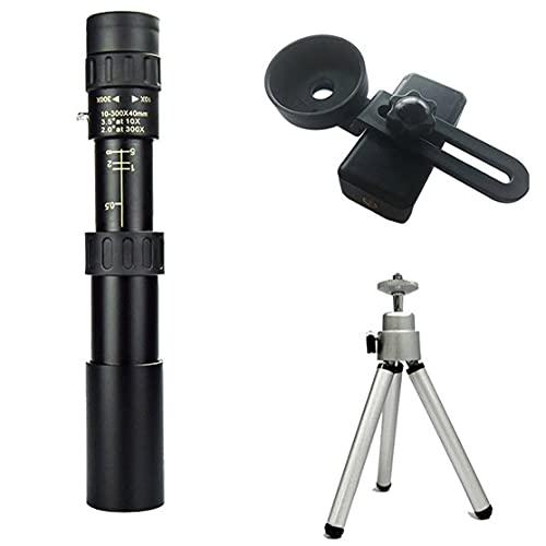 MeterBew1147 10-300x 40mm Telescopio Monocular Super Zoom Monocular Calidad Ocular Binoculares portátiles Caza Visión Nocturna Alcance Camping