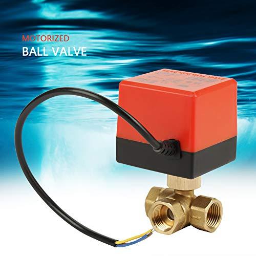 【 】 Válvula de bola motorizada, Válvula de bola eléctrica de 3...
