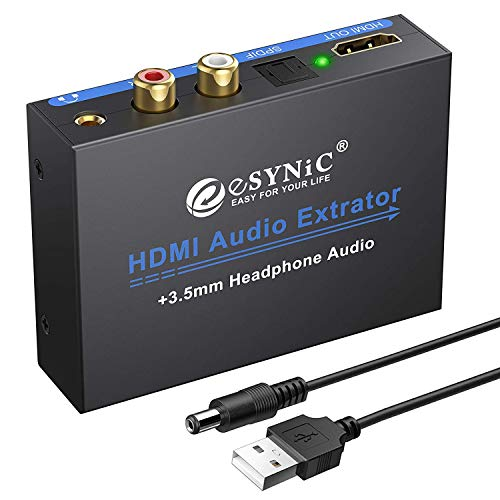 eSynic 1080P HDMI Audio Extractor Digital-Analog Converters HDMI to HDMI...