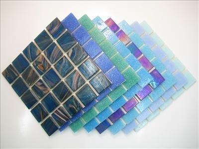 Mosaic Tile Mix. 2 cm x 4 mm di Spessore. Mix per Piastrelle, 200 Pezzi, Colore: Blu