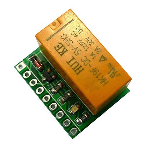 EElabper Signal-Relais-Modul Switch Board 5v Dpdt Dual-Kanal-Auswahl Umpolung Komponenten Teile orange