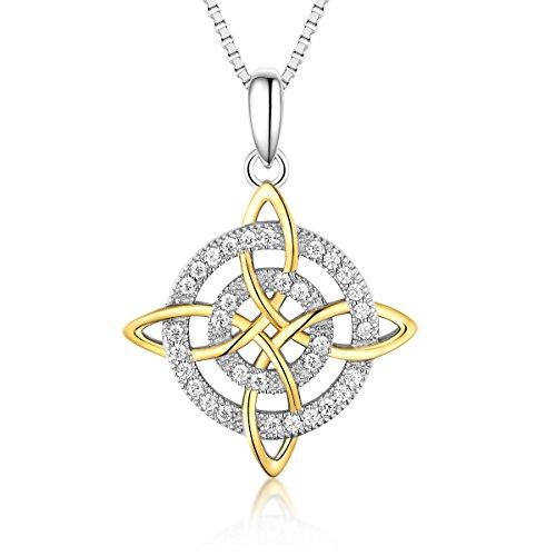 Bellrela 925 Sterling Silver Cross Earring Necklace Jewelry Set (Necklace)