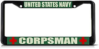 Fastasticdeals United States Navy Corpsman Military License Plate Frame Tag Holder Cover