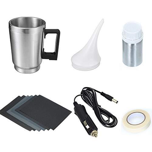 Car Dent Repair Kit, Headlight Cleaner and Restorer Kit Steam Polishing Repair Tool with 100ml Headlight Repair Fluid for Cars Bikes Motorcycles, Repair Yellowing, Scratches, Cracks