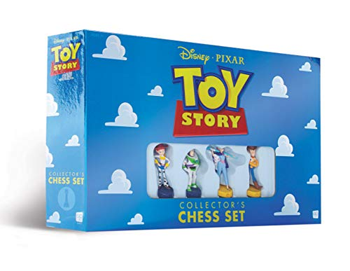 USAOPOLY Disney Pixar Toy Story Collector's Chess Set | Featuring Toy Story 4 Characters - Jessie, Buzz Lightyear, Bo Peep, Woody | 32 Custom Sculpted Collectible Chess Pieces