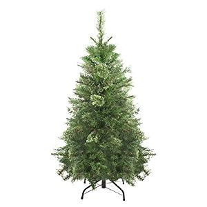 northlight unlit atlanta mixed cashmere pine medium artificial christmas tree, 4′ silk flower arrangements