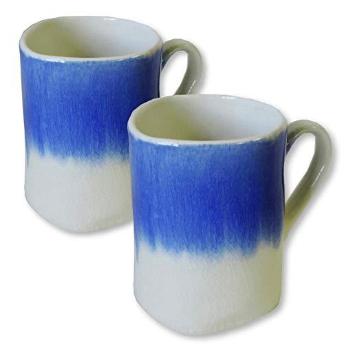 AllAsta Kaffeetassen, Indigoblau/Weiß, 2 Stück